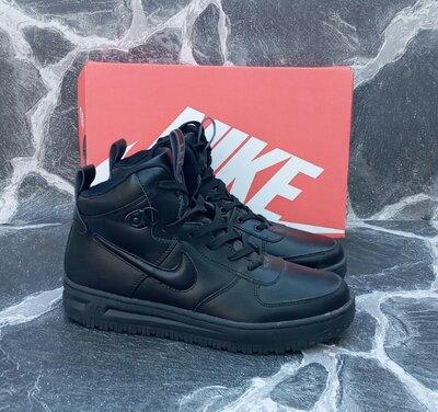 Мужские кроссовки Nike Lunar Force кожаные.белые,черные