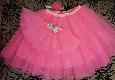 Фатиновая юбка, юбка ту-ту, с атласной лентой, с фатина Опт/розница