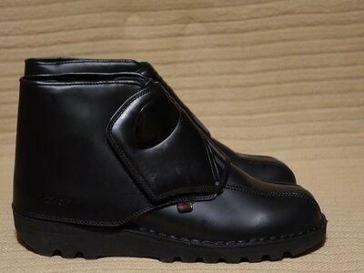 Для поклонников Звездных войн - фирменные черные кожаные ботинки KicKers star wars Франция 44 р.