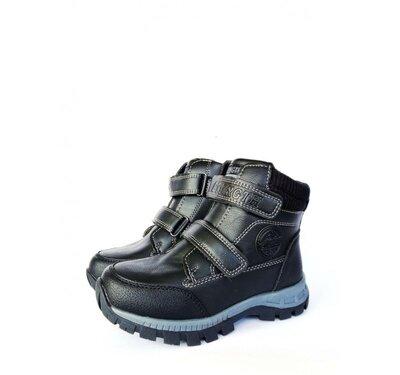 Ботинки детские на мальчика Jong Golf 27, 29, 30, 32 р черный B831-0
