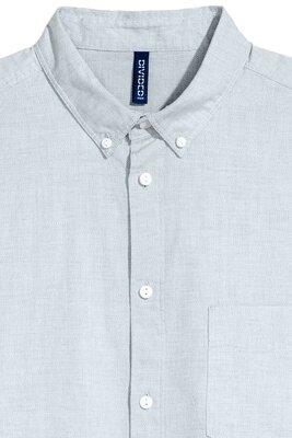 Хлопковая рубашка Regular Fit H&M Размер xl