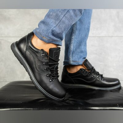 Мужские кожаные туфли Clarks Yuves нат кожа,черные