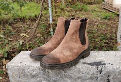 Оригинал кожаные ботинки челси Ecco Crepetray Hybrid M 43 р.