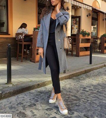 Продано: Пальто кашемир ёлочка Размеры S-M, L-XL