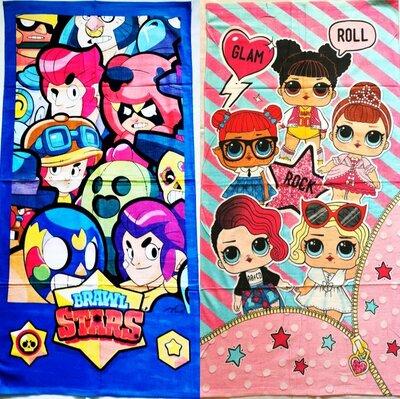 Полотенца с любимыми героями Взрослые и детские. BRAWL STARS Бравл старс , LOL Лол