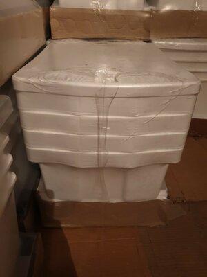 Белый пластиковый комод на 4 ящика
