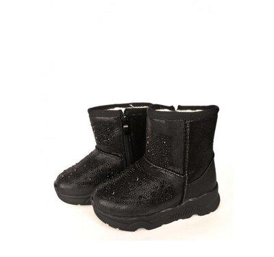 Ботинки детские для девочки Jong Golf 27, 28, 29, 30, 31 р черный B5161-0