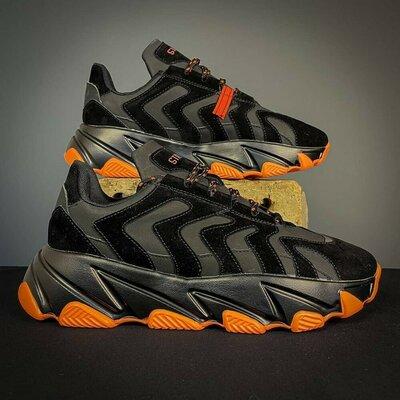Мужские кроссовки stilli black - orange
