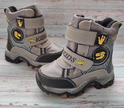 Детские зимние термо ботинки сноубутсы для мальчика 23-28р Т5115-3
