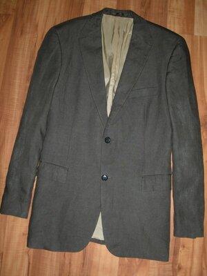 p54XL Новый льняной блейзер Hugo Boss - Bertolucci zegna etro пиджак