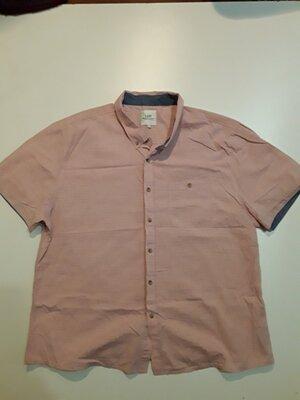 Фирменная легкая хлопковая рубашка 3XL