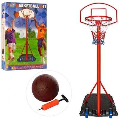 Продано: Баскетбольная стойка высота 2,36 м, кольцо 44 см, сетка, надувной мяч, насос, mr 0326
