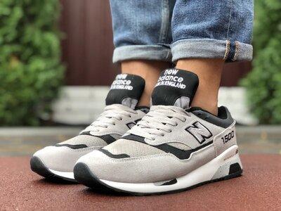 Стильные мужские кроссовки New Balance 1500,бежевые серые