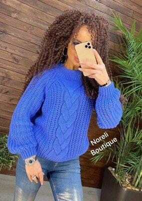 Вязаный стильный свитер Нр-533
