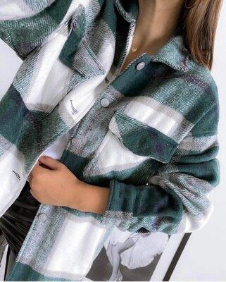 стильные модные женские рубашки утепленная