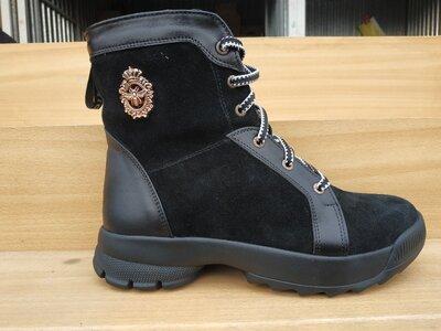Акция Зимние женские кожаные ботинки 36-40 р