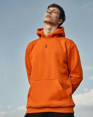 Теплое худи унисекс Пушка Огонь Classic '20 оранжевое