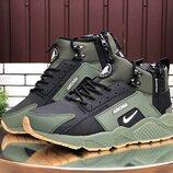 Мужские зимние кроссовки-ботинки Nike Huarache,цвета разные
