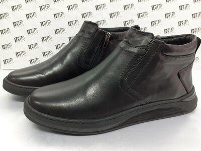 Комфортные кожаные ботинки демисезонные на молнии Detta 40,41,42,43,44,45р.