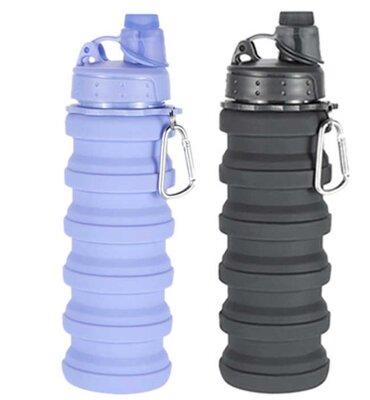 Складная силиконовая бутылка LUX Bottle 550 мл. Тех 425