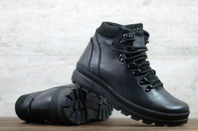 Лучшее качество. Зима. Украина. Мужские кожаные зимние ботинки Ecco черный Ec 43 ч.т.