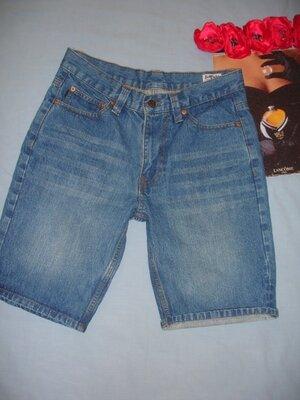 шорты джинсовые мужские летние размер 44-46 W 30 голубые