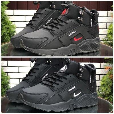 Зимние мужские высокие кроссовки Nike Huarache р. 41-46