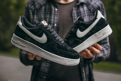 Nike Air Force Lou Luxury Suede Black White