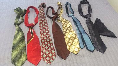 7 шт импортных галстуков, цена за все