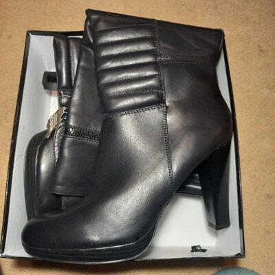 Кожаные сапоги евро зима , размер 40