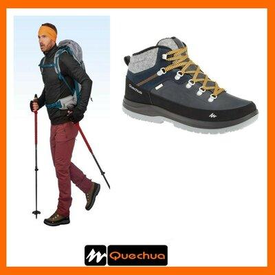 Зимние кожаные водонепроницаемые ботинки quechua до -20 р 42, 43