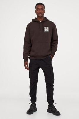 Хлопковые брюки карго H&M р.L 48-50