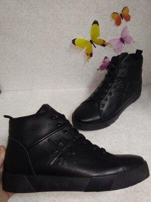 Продано: Кожаные зимние мужские кроссовки ботинки хайтопы