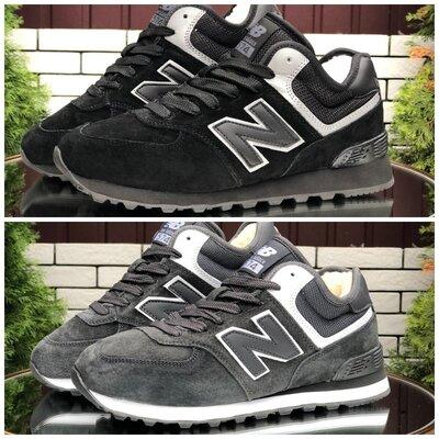 Зимние мужские кроссовки New Balance , черные и серые
