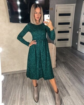 Теплое платье Ангора софт .Разные цвета и размеры