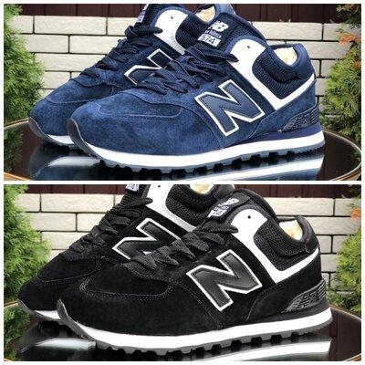 Зимние мужские кроссовки New Balance , синие и черные