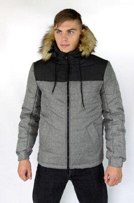 Куртка зимняя Alaska черно-серая