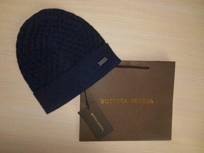 Продано: Шапка мужская синяя Bottega Veneta, Италия