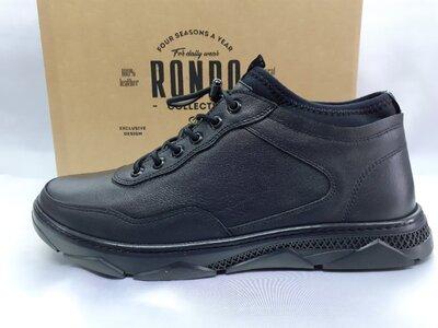 Стильные кожаные демисезонные полуботинки под кроссовки Rondo 41,42,43,44р.