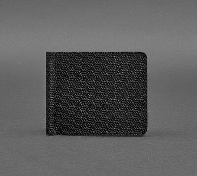 Купюрник зажим для денег не магнитный натуральная кожа черный BN-PM-1-g-karbon