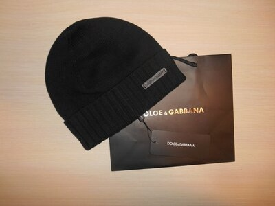 Шапка теплая зимняя мужская фирменная Dolce & Gabbana, Италия