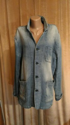 Стильный текстильный пиджак кардиган Gast Iron Premium Denim унисекс, высокий рост