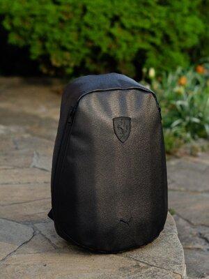 Рюкзак городской спортивный мужской женский для подростка черный эко кожа