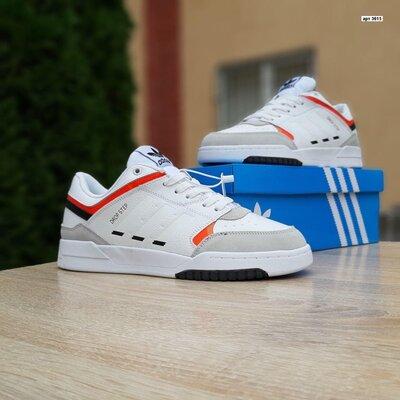 Зимние мужские кроссовки Adidas Drop Step белые, зима