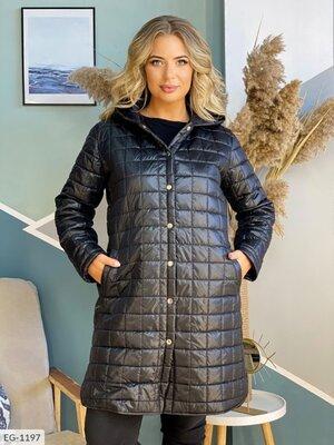 Стеганная куртка-пальто, 2 цвета.