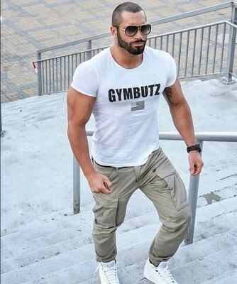 Белая мужская футболка BUTZ - 6528
