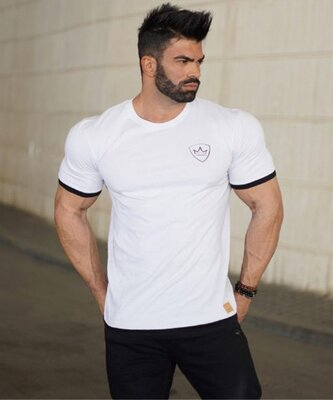 Стрейчевая белая футболка MCET - 6529