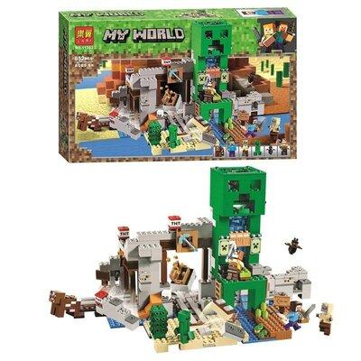 Майнкрафт деталей 852 шт. Конструктор BELA Minecraft Шахта Крипера 11363
