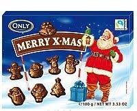 Австрия.молочный шоколад Merry X-mas figures Only , 100 гр
