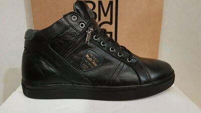 Мужские зимние ботинки Multi Shoes,Натуральная кожа,черные